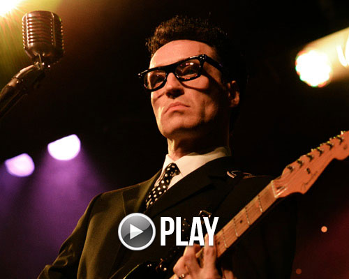 Music event example - shows buddy holly tribute act on stage