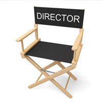 Image of a film directors chair